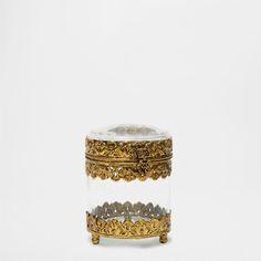 GLASS AND METAL DECORATIVE JAR - Decoration Accessories - Decoration | Zara Home Spain