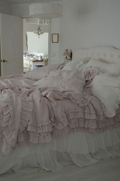 I cannot even tell you how much more Beautiful this bedding is in Person....I'm so glad i spent the money for it!! it took a long time to s...