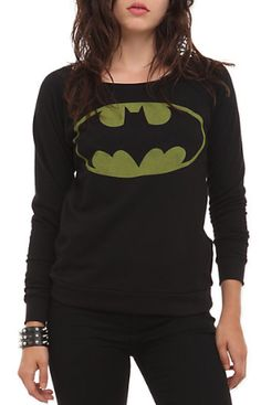 Gifts for Teen Girls:  DC Comics Batman Girls Pullover Top @ Hot Topic AAHHHHH!! I ALMOST got this guys!! But they only had a VERY tiny one ;(