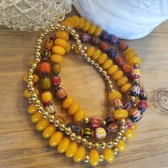 Bohemian multi color and yellow 4 piece bracelet set by ejeanettedesigns… Handmade Necklaces, Handmade Gifts, Stackable Bracelets, Jewelry Design, Unique Jewelry, Faceted Crystal, Bracelet Set, Beaded Necklace, Bohemian
