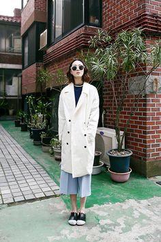 Fashiontoany Wide Pants, Fashiontoany Double Button Jacket  | @printedlove