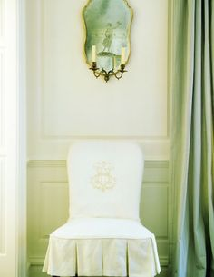 Inspiration For New Dining Chairs The Monogram Is Gorgeous