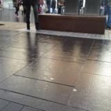 Chewing gum resistant paving coatings enables gum to be easily washed off & swept up