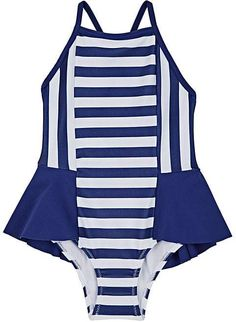 adeaa6ac0e Motoreta Kids' Peplum Striped Tank Swimsuit Baby Swimsuit, One Piece  Swimsuit, Toddler Swimsuits