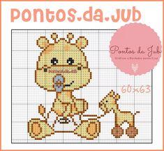 Cross Stitch Baby, Cross Stitch Charts, Cross Stitch Patterns, Baby Crafts, Diy And Crafts, Giraffe Crafts, Jungle Animals, Pixel Art, Christmas Crafts