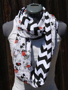 Disney Mickey & Minnie Infinity Scarf by StyleGypsies on Etsy, $26.00