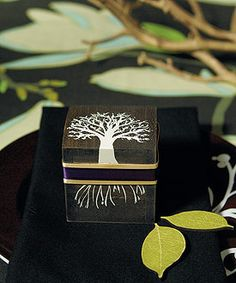 """Exclusive """"Tree Design"""" Miniature Wooden Box With Lid"""