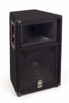 """Yamaha S112V Carpeted 12-inch 2 Way Loudspeaker System by Yamaha. Save 24 Off!. $339.99. The S112V is a trapezoid design cabinet, with oversize steel handles, steel corner protectors, steel jackplate with both dual Speakonâ and high current, heavy duty Switchcraft® 1/4"""" jacks, and a built-in pole socket (1 3/8"""") for easy stand mounting. The woofer, or low frequency driver is a high power, custom design. The High frequency driver is a custom, 2"""" diaphragm (1"""" exit) design with an exclus... Yamaha Speakers, Pro Audio Speakers, Sound Stage, 2 Way, Loudspeaker, Cabinet Design, Custom Design, Musical Instruments"""