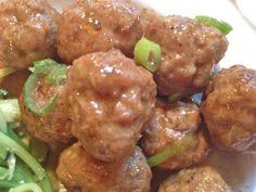 Apple Cider-Glazed Turkey Meatballs