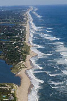 Aerial of the shoreline in East Hampton, NY. (2008)  Credit Doug Kuntz