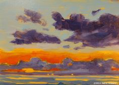 "June 19, Sky #68  oil on panel, 5x7""  Painted on location, Atlantic Beach, FL  http://picmarkr.com/files/1c70ac458f9a5f4b360898cdcc20c053/image_1.jpg"