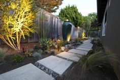 Modern texas landscape design with pathway backyard pinterest lighting a mid century modern landscape design mid century mid century modern landscape design ideas mozeypictures Image collections