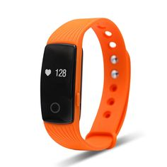 Tecomax Sport Bluetooth Smart Bracelet Wrist Band with Heart Rate Monitoring Anti- Lost Remote Camera Pedometer for Android and IOS iPhone Smart Phone - Orange * For more information, visit image link.