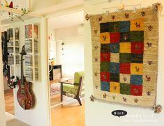 ギャベを壁に飾ってみました。 http://palette.blush.jp/blog/?p=101