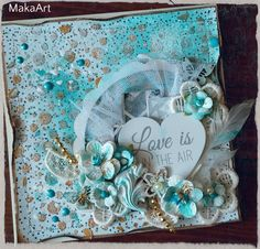 Card *Love is in the Air...*,  scrapbook paper - January Kit of Papero amo...