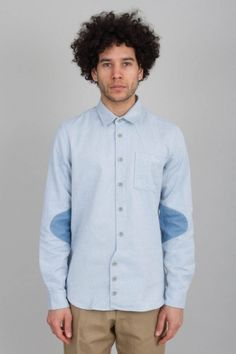Vangelis Panel Shirt - Denim Blue | Sale - Shirting