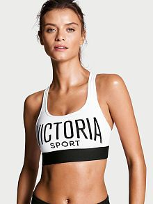 be3f5f7fab1e2 Victoria s Secret The Player by Victoria Sport Racerback Sports Bra (230  ARS) ❤ liked on Polyvore featuring activewear