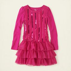 girl - sequin ruffle dress | Children's Clothing | Kids Clothes | The Children's Place