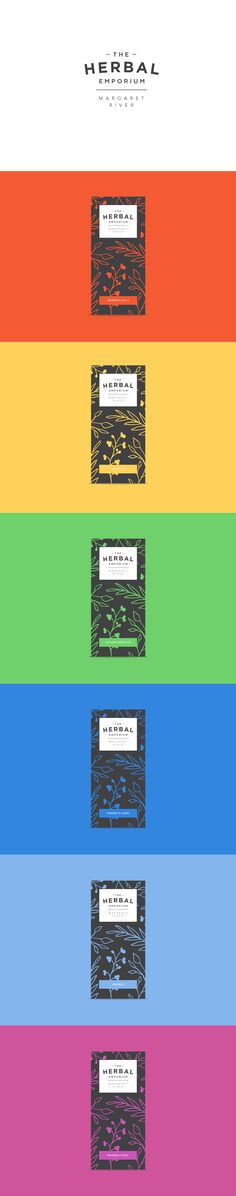 Unused branding concepts for The Herbal Emporium, a herbal tea brand in Margaret River. #design #brand #logo #herbaltea #tea #packaging
