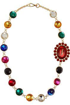 Miu Miu Oversized plexiglass crystal necklace