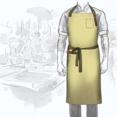 Design your own chef and server aprons. Built in Philadelphia, our aprons are made with premium lightweight cotton denim, double-stitched hems, and hand-dyed cotton canteen straps. You pick your colors and configuration. Perfect for restaurants and hotels that need a custom look. With the high demand for custom orders, please allow up to two weeks to build your apron. For the best view of colors, p