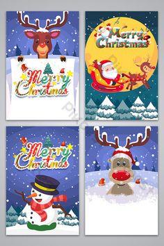 Hand-drawn cartoon elk Christmas background image#pikbest#backgrounds