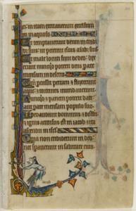 manuscript manuscript The classical nude and the archer Folios 110 (verso) and 111 (recto)