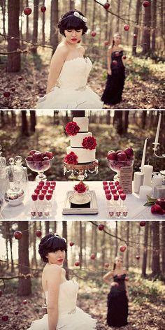 Un mariage thème blanche-neige