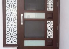 Homemade door design is or your luxury houses, you can choose fancy entrance doors prepared with glass grills or different framing. Door Design Photos, Home Door Design, Door Gate Design, Door Design Interior, Wooden Front Door Design, Wooden Front Doors, Wood Design, Net Door, Glass Panel Door