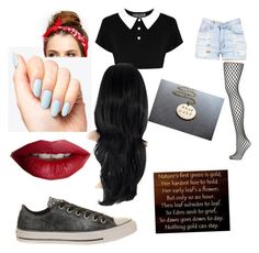 """""""Nothing gold can stay"""" by demongreasergirl on Polyvore featuring Topshop, Converse and TheBalm"""