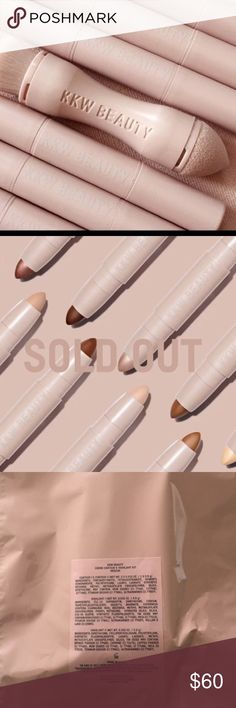 NWT KKW - color medium kit!!!!! Never opened I purchased one to many!!!! They have not come in yet, but I will ship once they do. I have a medium creme contour not opened never been swatched. Just keeping it in box till it's delivered. Sold out in minutes!!!! Low low price! Kardashian Kollection Makeup