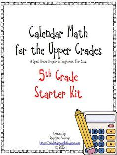 Calendar Math for the Upper Grades Grade Starter Kit Teaching 5th Grade, 5th Grade Teachers, 5th Grade Math, Teaching Math, Math Class, Grade 2, Fourth Grade, Teaching Ideas, Fun Math