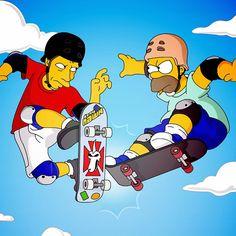Гомер против Tony Hawk Ipad обоев