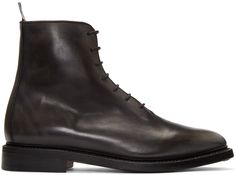 Thom Browne - Black Wholecut Boots