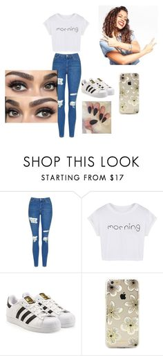 """""""Liza Koshy"""" by lilliybear14 on Polyvore featuring Topshop, WithChic, adidas Originals, Sonix and Mosca"""