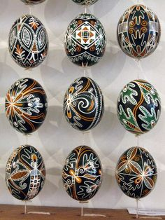 Gorgeous Trypilian design Ukrainian Easter Eggs.