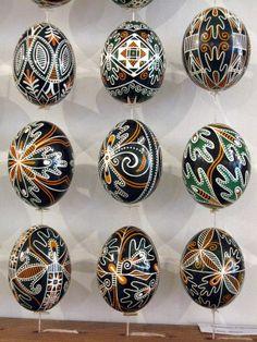 Gorgeous Trypilian design Ukrainian Easter Eggs.
