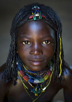 ^Mucawana Tribe Girl, Ruacana, Namibia photo by Eric Lafforgue