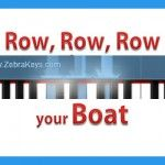 Learn Easy Songs for Kids - Row, Row, Row Your Boat with Singalong Lyrics - Fun Learning