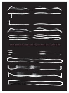 Poster by Jason Munn.  ATLAS SOUND, 2 Color Screen Print, 18 x 24 Inches, 2010.