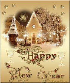 We wish you a happy healthy new year. Glg Sanne and Helmar. Happy New Year Message, Happy New Year Images, Happy New Year Wishes, Happy New Year Greetings, New Year Greeting Cards, Merry Christmas And Happy New Year, Christmas Eve Pictures, Wishes For Mother, New Year Art