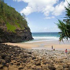 Hanakapiai Beach, Kauai. With rust-colored palisades that plunge 1,000 feet into the sea, Kauai's remote and lush Na Pali Coast has starred in numerous movies, from Jurassic Park to The Perfect Getaway. Coastalliving.com