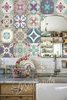 Adhesive Tiles, Clawfoot Bathtub, Kitchen Backsplash, Curtains, Hairpin Legs, House, Furniture, Loft, Design