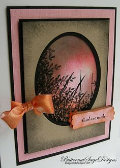 By Donna Centamore. Sponged background. Stamped image. Window die cut.