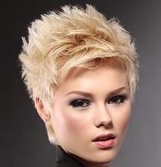 Cropped Pixie Haircut: Short Hairstyles for Fine Hair - PoPular Haircuts Short Slicked Back Hair, Short Hair Cuts, Short Hair Styles, Short Pixie, Pixie Cuts, Short Quiff, Funky Short Hair, Edgy Pixie, Curly Short