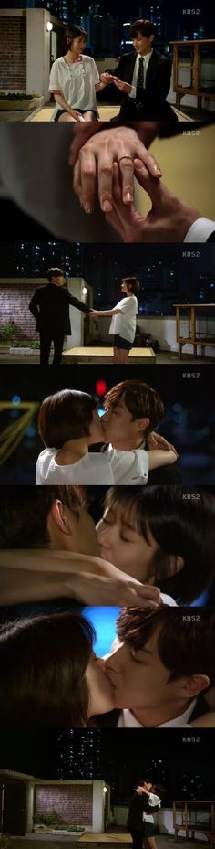 "[Spoiler] ""Father is Strange"" Jung So-min kisses Lee Joon after his proposal"