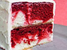 Valentine's Dream Cake. Has Cake, Cream Cheese, Nutella, and Red Velvet Batter.