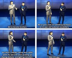 [gifset] Jensen and Jared at the CW Upfronts 2014.