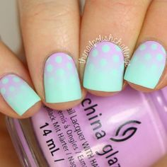 I am in LOVE with this polka dot gradient inspired by @lemmingspolish! How cool does it look?! I've got a tutorial for it on YouTube right now ➡️ LINK TO THE TUTORIAL IS IN MY BIO!!!!! ⬅️ Make sure you subscribe to see all my nail art! I used two of my fave #ChinaGlaze polishes from @hbbeautybar, you can see details on those on my blog www.thenailpolishchallenge.com! What do you guys think of it?!