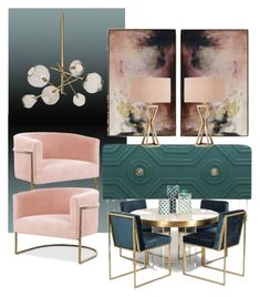 """""""Accent in pudré"""" by myhouse-myideas on Polyvore featuring interior, interiors, interior design, home, home decor, interior decorating and Calico Wallpaper"""